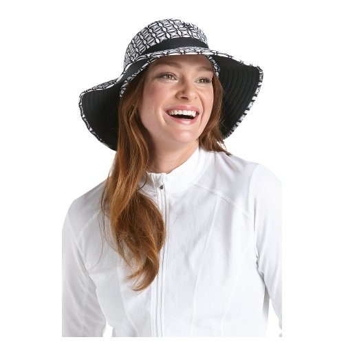 eb287b85a01 Coolibar UPF 50+ Women s Chlorine Resistant Bucket Sun Hat - Sun Protective  (Small Medium - Black Medallion) - Buy Online in UAE.