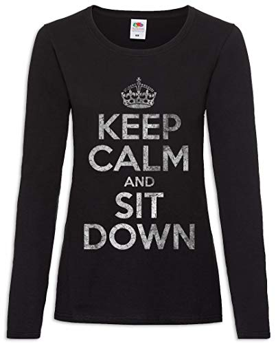 Women Xs 2xl De Larga T Down Tamaños And – Calm Sit shirt Mujer Manga Keep nxq7RX6wAp
