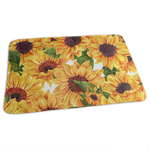 Changing Pad Watercolor Flower Sunflower Leaf Baby Diaper Urine Pad Mat Great Kids Baby Mattress Sheet for Any Places for Home Travel Bed Play Stroller Crib Car