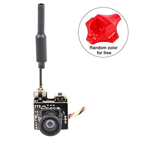 (Crazepony FPV Micro AIO Camera 5.8G 40CH 25mW Video Transmitter VTX Switchable Raceband Support OSD FOV 150°for FPV Drone Like Blade Inductrix Tiny Whoop etc)