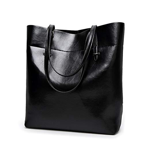 clutches y Shoppers Fekete bandolera mano Bolsos Carteras bolsos hombro Mujer y de de PFdw6Px
