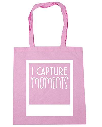 HippoWarehouse I captura momentos Tote Compras Bolsa de playa 42cm x38cm, 10litros Classic Pink