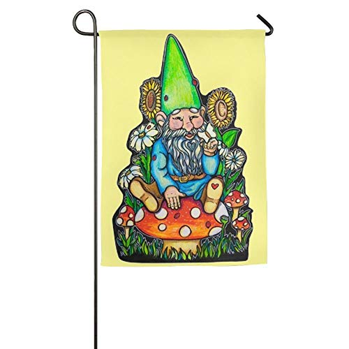 Mini Gnomes Seasonal Lawn Yard House Garden Flags 12x18 inches Polyester Fiber Banners (New Orleans Saints Garden Gnome)