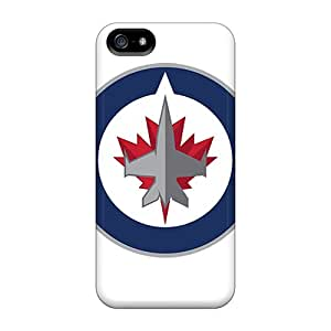 LisaSwinburnson Iphone 5/5s Shock Absorbent Hard Phone Case Support Personal Customs Colorful Winnipeg Jets Pictures [QQG19947lDfc]