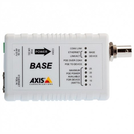 AXIS 5028-411 AXIS T8641 Ethernet Over Coax Base Unit PoE+ - Media converter - Axis T8641 Poe+ Over Coax Base Unit Of Ethernet Over Coax (5028-411 by AXIS (Image #1)