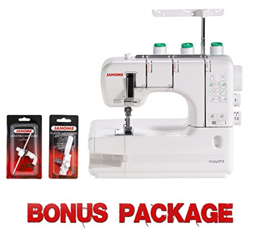 Janome CoverPro 900CPX Portable CoverHem Serger Machine With Bonus by Janome