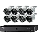 Lorex by FLIR LHA2000 16-Channel HD MPX DVR with 8x LAB223B 1080p Weatherproof 130' IR Camera and Pre-Installed 2TB HDD, FLIR Secure Connectivity
