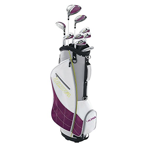 - Wilson Ultra Ladies Left-Handed Super Long Golf Club Set with Cart Bag