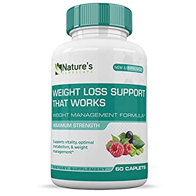 Weight Loss Pills That Works :: Appetite Suppressant :: Encourages Weight Loss:: Increase Energy :: 100% Natural :: 1 Month Supply (60 Caplets) :: Nature's Landscape