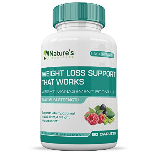 Weight Loss Pills That Works :: Appetite Suppressant :: Encourages Weight Loss:: Increase Energy :: 100% Natural :: 1 Month Supply (60 Caplets) :: Nature's (Pills 1 Month Supply)