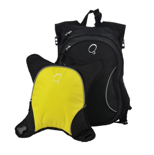 Obersee Munich Mochila Escolar con desmontable Almuerzo Enfriador ((Star) amarillo negro / amarillo negro / amarillo