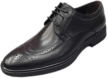 WMZQW Zapatos De Negocios para Hombre Vestir Zapatos de Cuero Fiesta Smoking Clásico Oxford Encaje Zapatos
