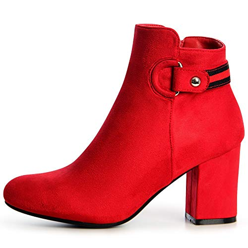 Femmes Topschuhe24 Femmes Rouge Topschuhe24 Bottines ZEWqa60aw7