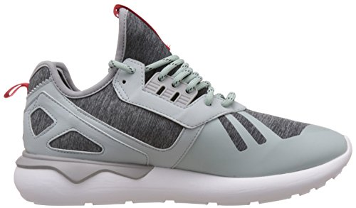 adidas Originals Tubular Runner Weave Herren Hohe Sneakers, Grau (Mist Slate F15-St/Tomato F15-St/Ftwr White), 43 1/3