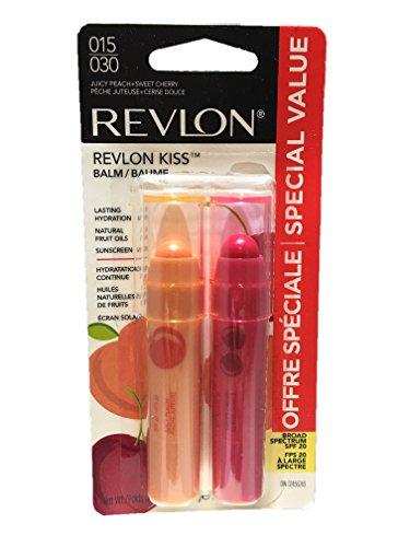 Kiss Lip Balm - Revlon Kiss Lip Balm Juicy Peach & Sweet Cherry