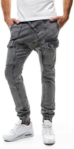 OZONEE Pantalones De Hombre Pantalón Chándal Pantalón Pitillo ...