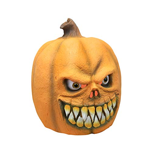 Scary Pumpkins For Halloween (Halloween Costume Party Latex Pumpkin Head Mask, Cosplay Costumes Decoration Scary Pumpkin Halloween Props Mask Toy)