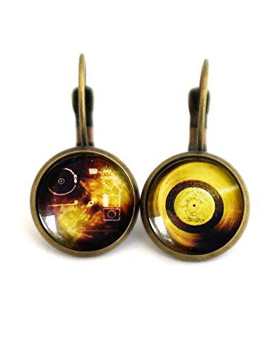 Voyager Space Probe Earrings (Bezel Golden Earrings)