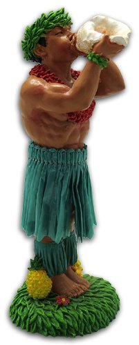 KC Hawaii Man w/Conch Shell Dashboard Doll