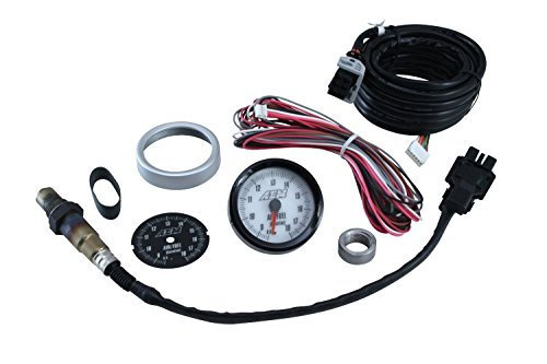 AEM 30-5130 Analog Wideband Air/Fuel Ratio Gauge with Black and White Face ()
