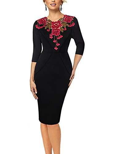 Oxiuly Womens Embroidery Bodycon Cocktail product image