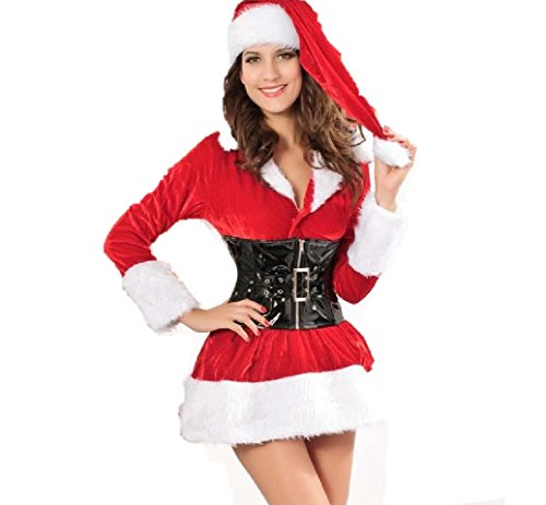 Santa Velvet Dress Costume for Women