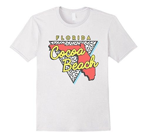 Men's Cocoa Beach Florida T-Shirt Souvenirs 80s Triangle ...