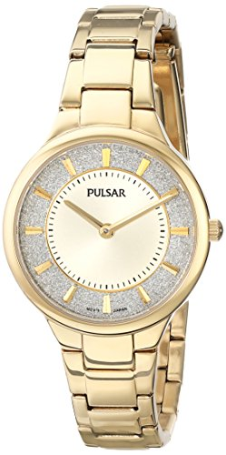 Pulsar Women's PM2132 Gold-Tone Watch with Link Bracelet