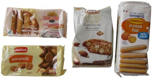 VittleItaly: Cookie Set of Italian Specialties! (Amaretti, Cantuccini, Fogliette, Savoiardi) [ Italian Import ] (Savoiardi Italian Ladyfingers compare prices)