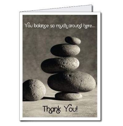 (VictoryStore Jumbo Greeting Cards: Giant Thank You Card (Rocks), 2' x 3' card with)