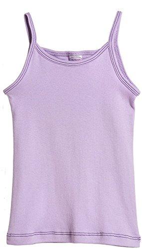 City Threads Big Girls' Cotton Camisole Tank T-shirt Tee Tshirt - Lavender - 10