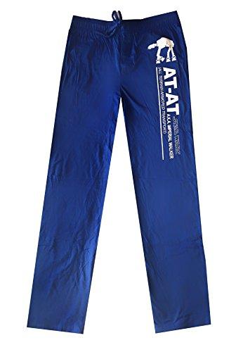 New Star Wars at-at Blue Force Awakens First Order Knit Sleep Lounge Pants (XL)