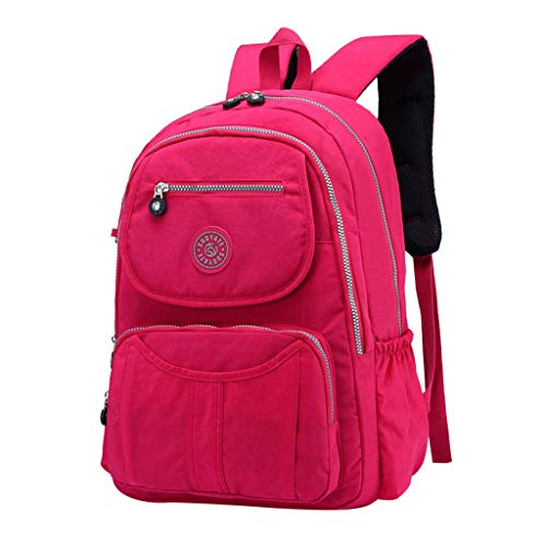 Transser Women Backpack Purse Nylon Anti-theft Large Capacity Lightweight Waterproof Travel Backpack School Shoulder Bag