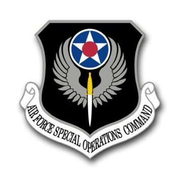 (US Air Force Special Operations Command Decal Sticker 3.8