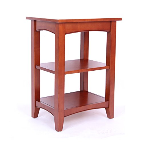 Furniture Cottage Cherry (Alaterre Shaker Cottage 2-Shelf End Table, Cherry)