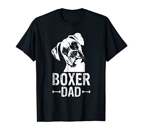 T-shirt Dogs Mens Boxer (Mens Boxer Dad Dog Lover T-Shirt Boxer Dad Gifts)