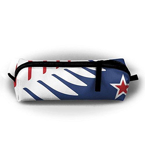 Children Pencil Case Zipper Pen Pouch Fern Nz Flag Star Printing Student Small Pen Bag Rectangular - Tiffany Nz