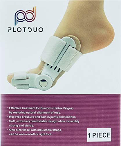 Bunion Corrector & Bunion Pain Relief Separator - Hammer Toe Straightener, Splint Care Aid Surgery, Big Toe Joint, Night Spacer Toe Support, Bunion Pads for Women & Men with Turf Toe Brace, Juanetes
