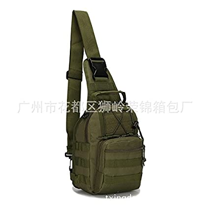 b1ace9b287 Image Unavailable. Image not available for. Color  Tactical Canvas Chest  Sling Packs Military Cross Body Shoulder ...