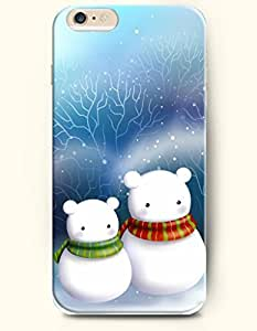 OOFIT iPhone 6 Case ( 4.7 Inches ) - Mother Snowman and Baby Snowman