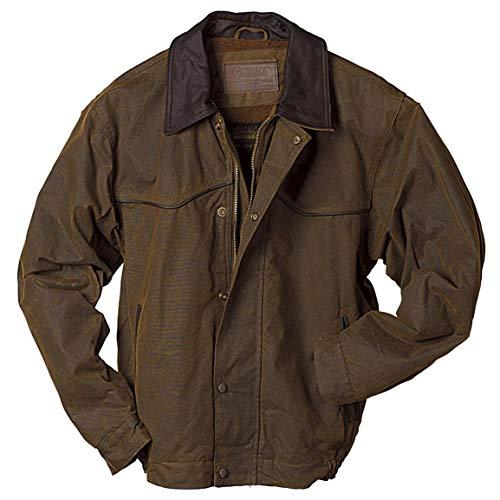 Lightweight Oilskin - Outback Trading Company Trailblazer Oilskin Jacket, Bronze, 3XL