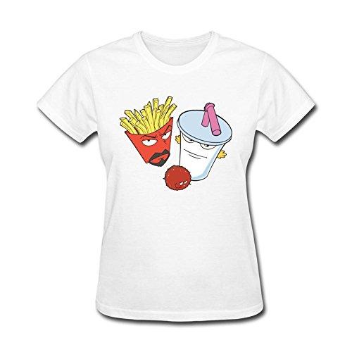Kittyer Women's Aqua Teen Hunger Force Design Cotton T Shirt M
