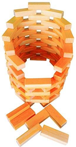 (Wooden Bricks 20 Piece Magnetic Building blocks, magnetic building set, stacking blocks. Included a canvas storage bag and instruction.)