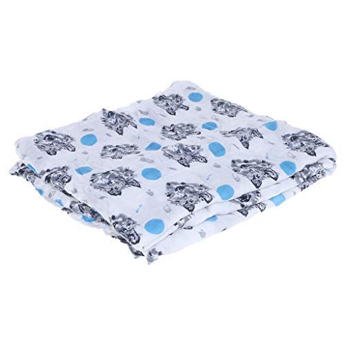 (OTGO Muslin Baby Blanket Cotton Bamboo Super Soft Baby Swaddle (Type:Wolf) )