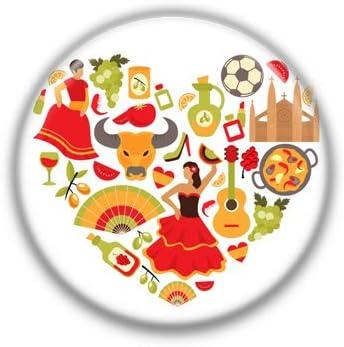 Corazon España : Chapas Collection, Pinback Button Badge 1.50 Inch (38mm): Amazon.es: Oficina y papelería