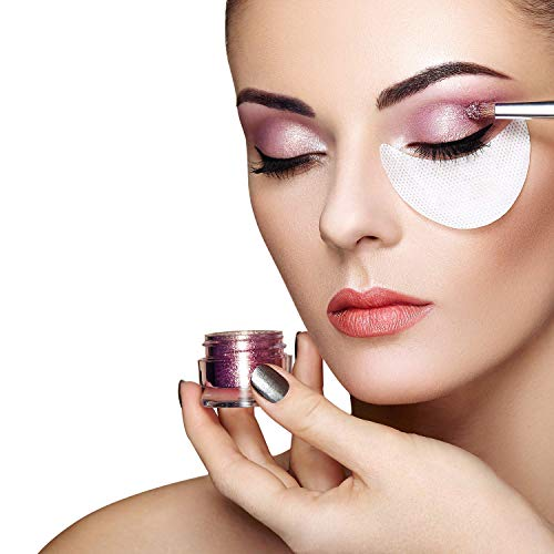 (Eyeshadow stencils 100 Pcs Eye Shadow Shields Eye Makeup Pads for Eyelash Extensions or Lip Makeup(White))
