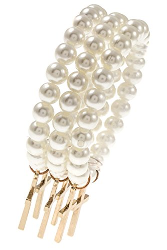 [Karmas Canvas Beaded Link Cross Dangle Charm Bracelet (Cream)] (Nutcracker Costumes For Sale)