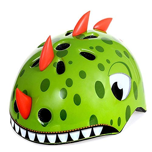 shuangjishan Cycling Helmet Cool Dinosaur Tricycle Helmet Big Wheel Helmet for Child,Youth Multi-Sport Helmet