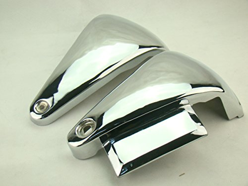 GZYF Classic Chrome Metal Battery Side Covers for Kawasaki Vulcan Vn800a / Vn800 NEW