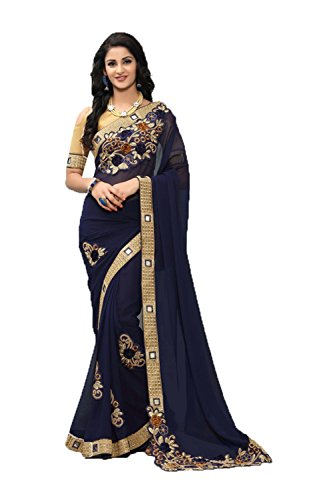 Facioun Partywear Traditional Designer Navy Sarees Women Indian Sari Blue Ethnic Da qUnxSw4A4